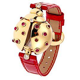 Chopard S20 254 21 Lady Bird Happy Diamond Yellow Gold 30mm Watch