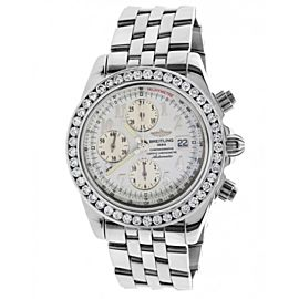 Breitling A13355 Crosswinds Racing Chronograph Diamond & Stainless Steel Mens Watch