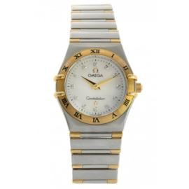 Omega Constellation Stainless Steel & 18K Yellow Gold Mother Of Pearl Dial Womens Watch