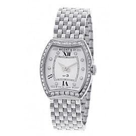 Bedat & Co. No 3 Diamond Dial & Bezel Stainless Steel Womens Watch