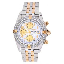 Breitling B13356 Windrider Chronomat Evolution Diamond Bezel Stainless Steel & 18K Rose Gold Mens Watch