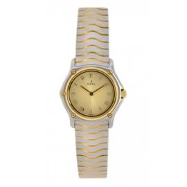Ebel 1057901Classic Wave Stainless Steel & 18K Yellow Gold Womens Watch