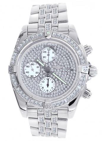 """Image of """"Breitling A13356 Chronomat Evolution Diamonds & Stainless Steel Mens"""""""