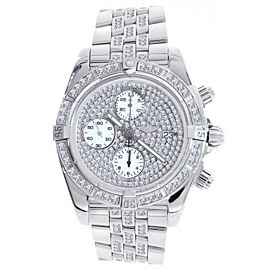 Breitling A13356 Chronomat Evolution Diamonds & Stainless Steel Mens Watch