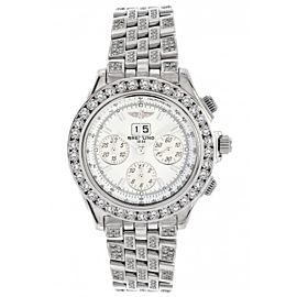 Breitling A44355 Windrider Crosswinds Chronograph & Diamonds Stainless Steel Mens Watch