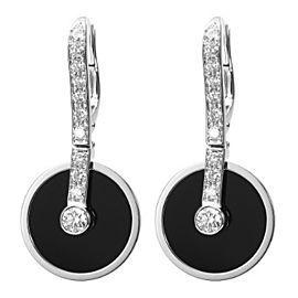 Piaget White Gold Black Onyx & Diamond Earrings