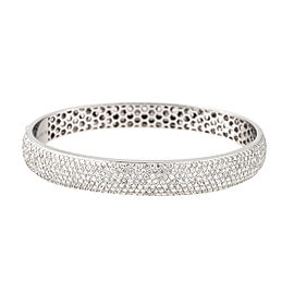 Tara 18K White Gold and 6.16ct Diamond Bangle