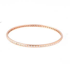 Tara 14k Rose Gold and 2.05ct H VS Diamond Bangle