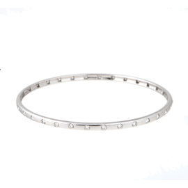 Tara 14k White Gold and 1.15ct H VS Diamond Bangle