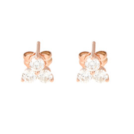 TARA 14k Rose Gold and 0.66ct Diamond Earrings