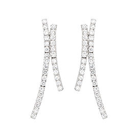 TARA 18k White Gold and 1.06ct Diamond Earrings