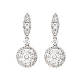 Tara 14k White Gold and 0.94 Ct GH/ SI Diamond Dangel Earrings