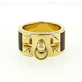 Hermes 18k Yellow Gold Diamond Ring