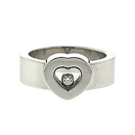Chopard 18k White Gold Happy Heart Diamond Ring