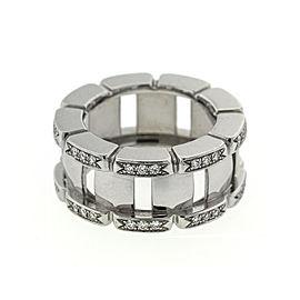 Patek Philippe 18k White Gold Diamond Bar Ring