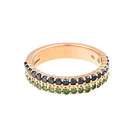 18K Rose Gold Black/Green Diamonds Unity Pure Ring