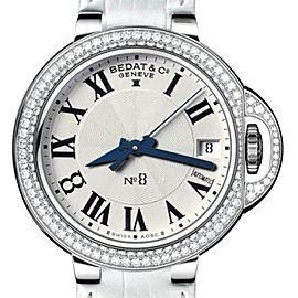Bedat & Co. N_8 Stainless Steel Diamond Bezel 36.5 mm Womens Watch