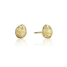 18K Gold Small Wonderland Ladybug Diamond Stud Earrings