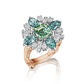 18K Gold Wonderland Tourmaline Flower Ballerina Ring