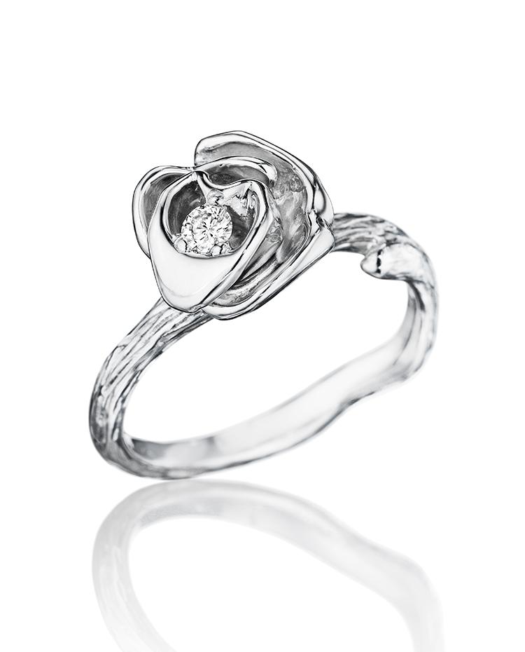 """Image of """"18K Gold Wonderland Large Stackable Rose Ring"""""""