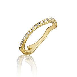18K Gold Wonderland Stackable Diamond Eternity Twig Ring