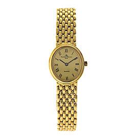 Baume & Mercier 18K Yellow Gold Vintage Womans Watch