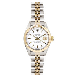 Rolex Datejust Two Tone Fluted White Index Dial Women's Watch