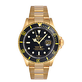 Rolex Submariner 16618 Black Mens Watch