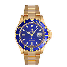 Rolex Submariner 16618 Blue Mens Watch