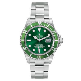 Rolex Submariner 16610 Steel Custom Green Mens Watch