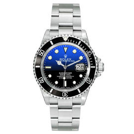 Rolex Submariner 16610 Steel Custom DeepBlue Mens Watch
