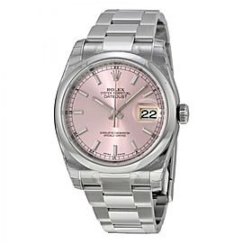 Rolex Datejust 116200PSO 36 Stainless Steel Watch Pink Dial 116200