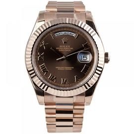 Rolex Day-Date II 18K Everose Gold Watch Chocolate Dial 218235
