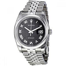 Rolex Datejust 36 Stainless Steel Watch Black Jubilee Dial 116200