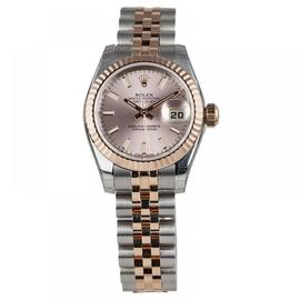 Rolex Lady-Datejust 26 Steel & Everose Gold Watch Pink Dial 179171