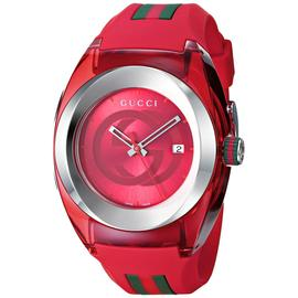 Gucci SYNC XXL YA137103 Stainless Steel with Red Rubber Bracelet Watch