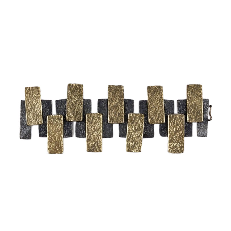 """Image of """"Brutalist Hand Made Panel Bracelet"""""""