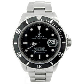 Rolex Submariner 16610 Stainless Steel With Black Dial 40mm Mens Watch