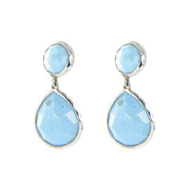 Ippolita Rock Candy Sterling Silver Turquoise Snowman Earrings