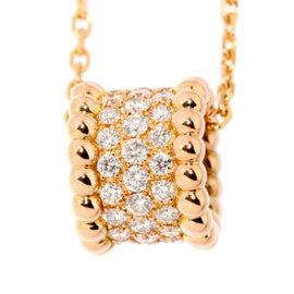 Van Cleef & Arpels 18K Pink Gold Diamond Perlee 5 Rows Necklace