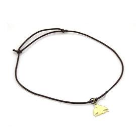 Pasquale Bruni Le Monde 18K Yellow Gold & Brown Cord Diamond Fish Pendant Necklace