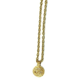 Chanel Coco Mark Gold Tone Metal Necklace