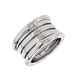 Bulgari 18K White Gold B.zero1 4-Band Ring Size 5