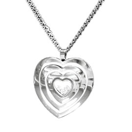 Chopard Happy Diamonds 18K White Gold & Diamond Heart Pendant Necklace