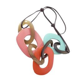 Hermes Buffalo Horn Pendant Necklace