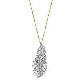 18K Gold Phoenix Feather Vertical Necklace