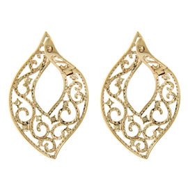 14K Rose Gold Diamond Fashion Drop Earrings