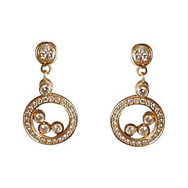 Chopard Happy Diamonds 18K Yellow Gold Drop Earrings