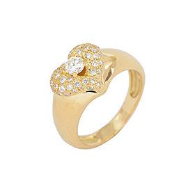 Van Cleef & Arpels YG Pave Diamond Heart Ring