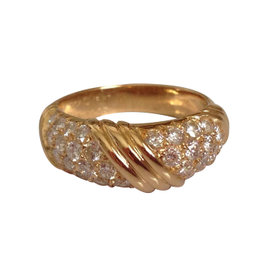Van Cleef Arpels 18K Yellow Gold Diamond Ring